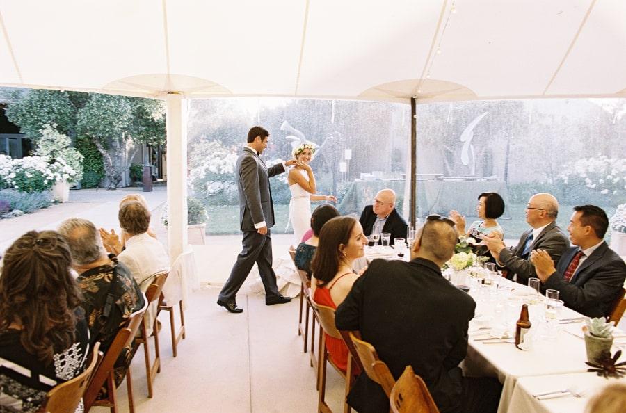 grand entrance wedding dinner