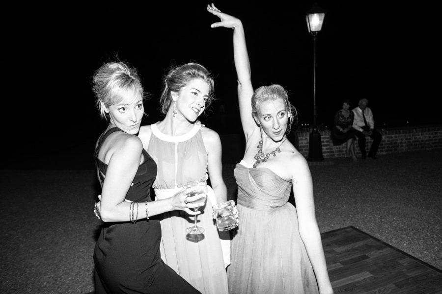 girls posing on dance floor