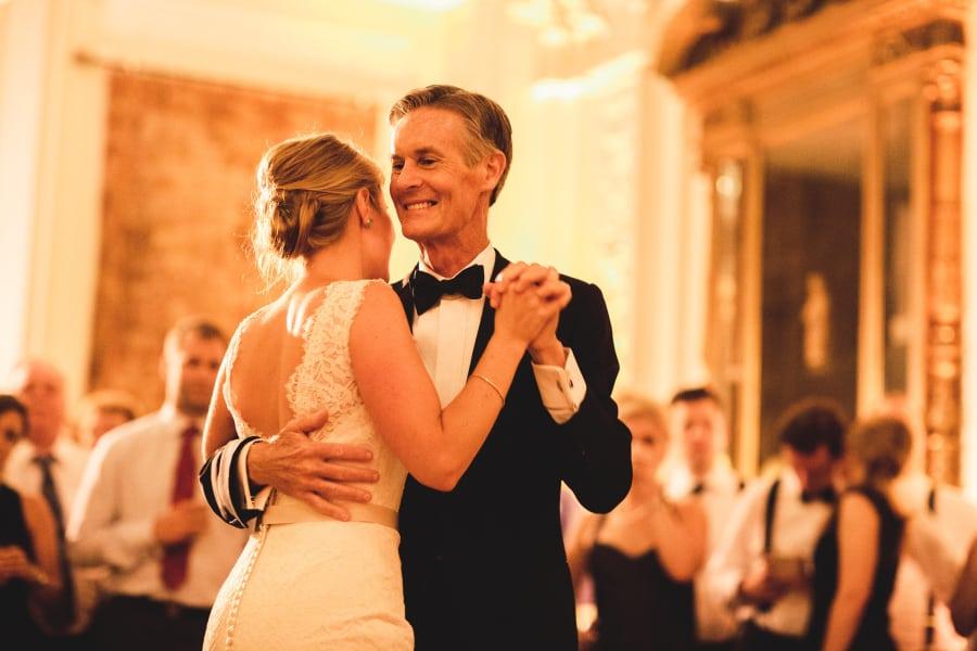 father daughter dance closeup