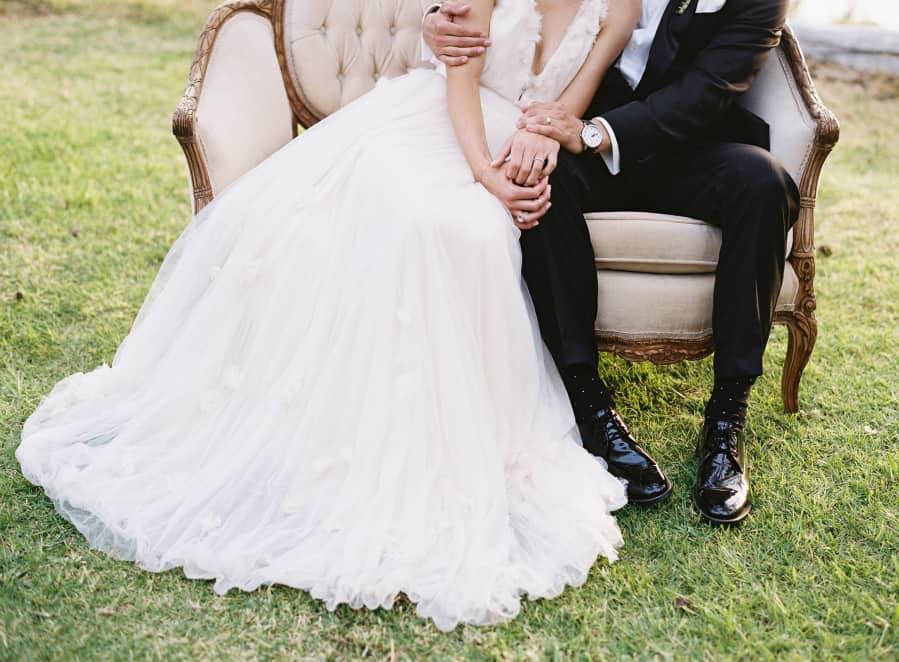 couple feet and dress