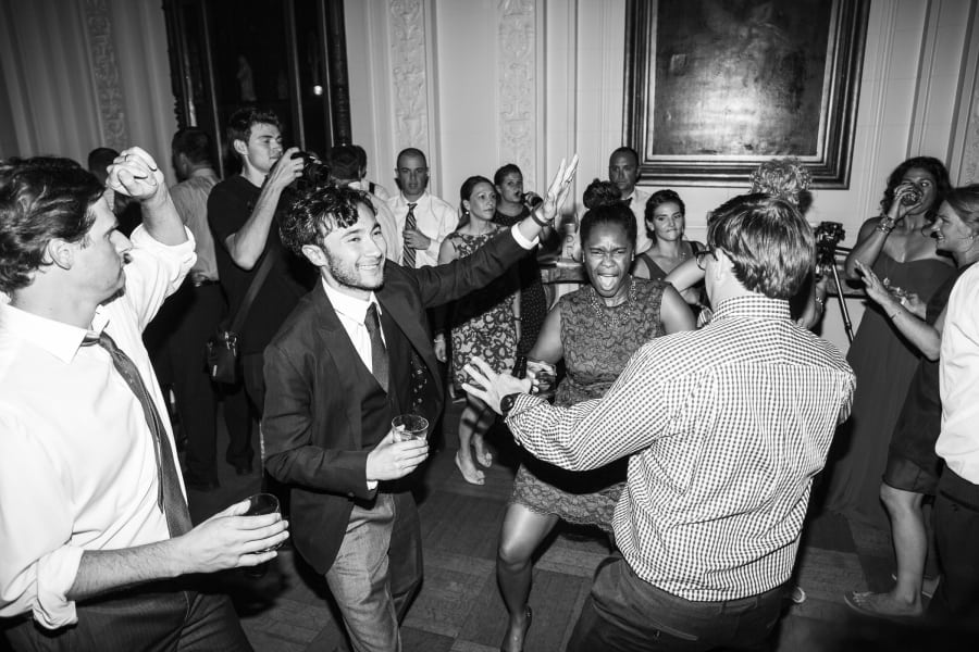 guests dancing and having a great time
