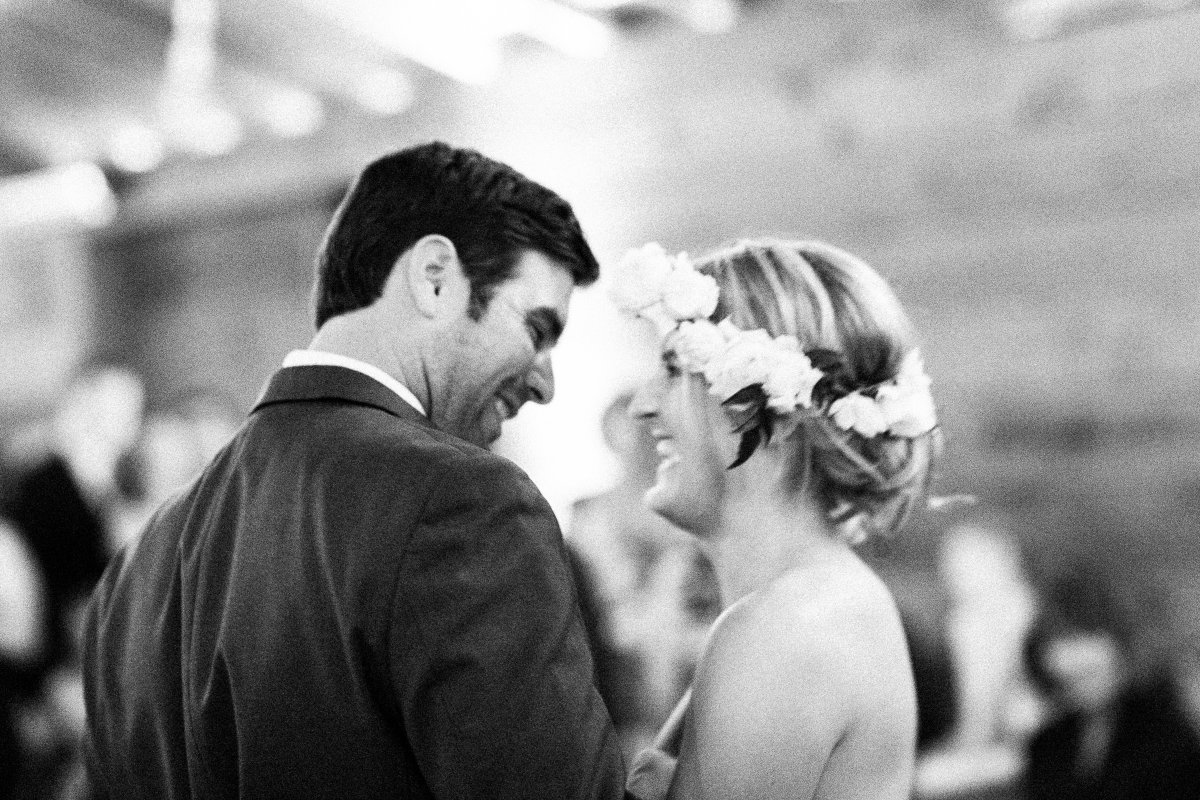 first dance blurry black and white