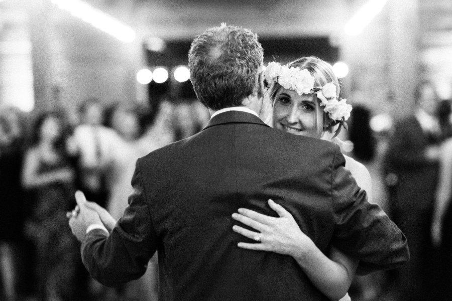 father daughter dance close up