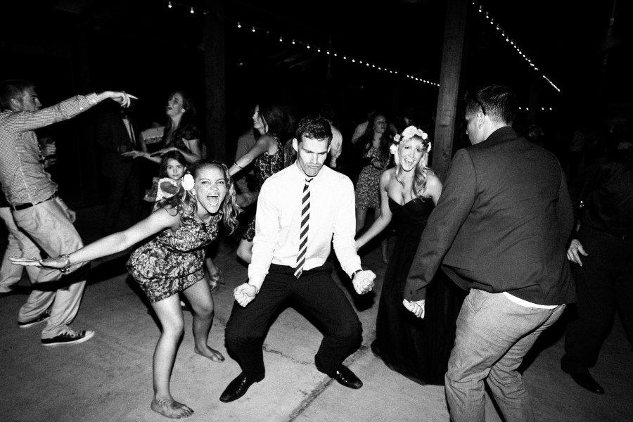 reception funny dancing