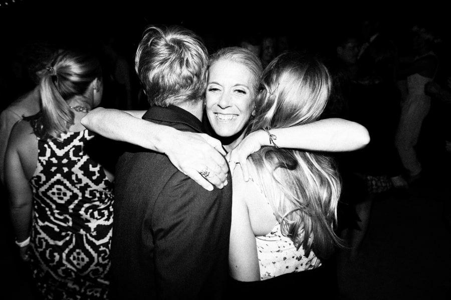 hug on dance floor