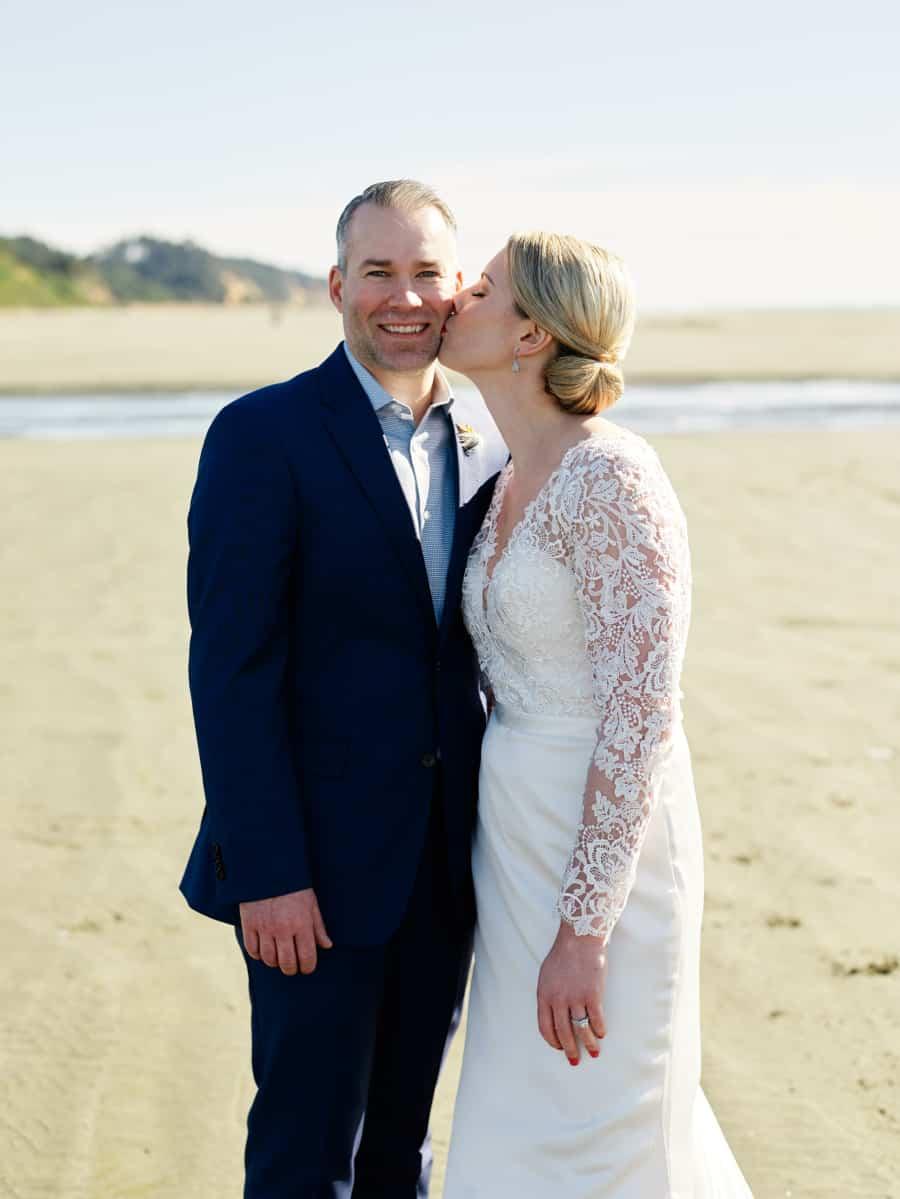 seabrook beach wedding portrait
