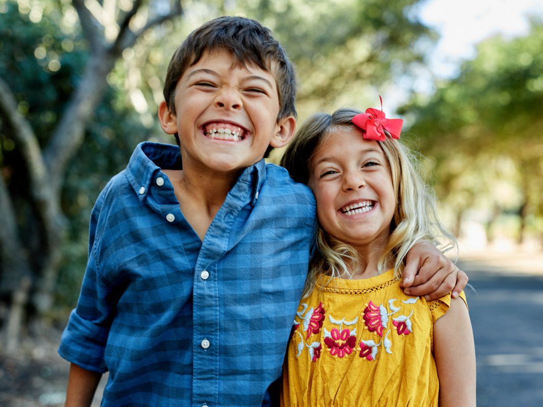 kids with huge smiles