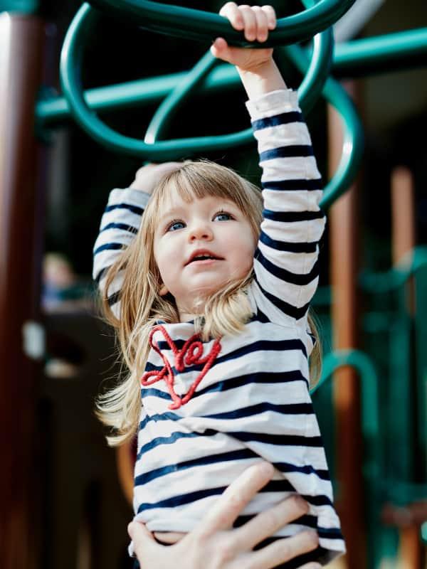 girl climbing