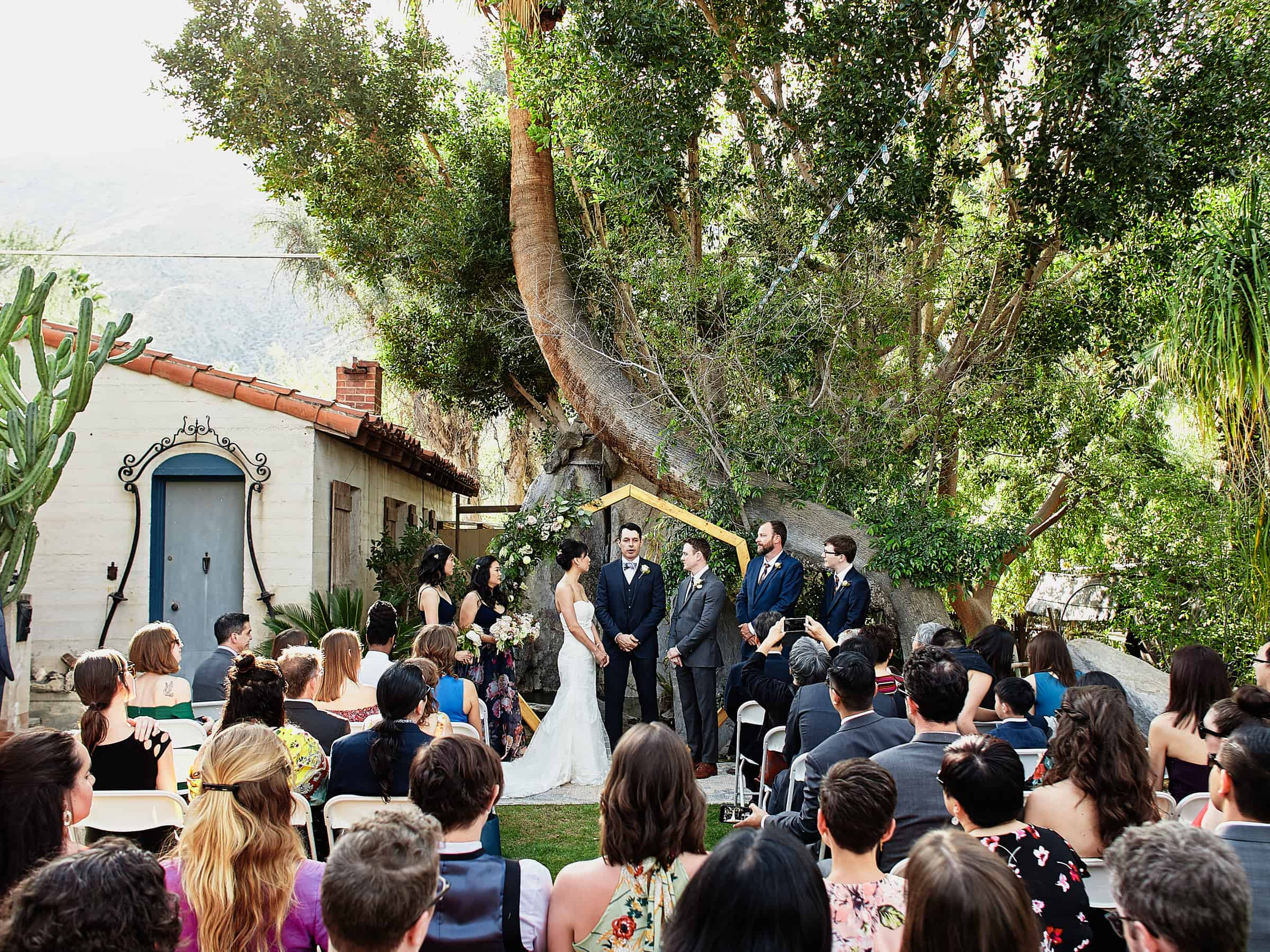 Moorten Botanical Garden intimate wedding ceremony in Palm Springs