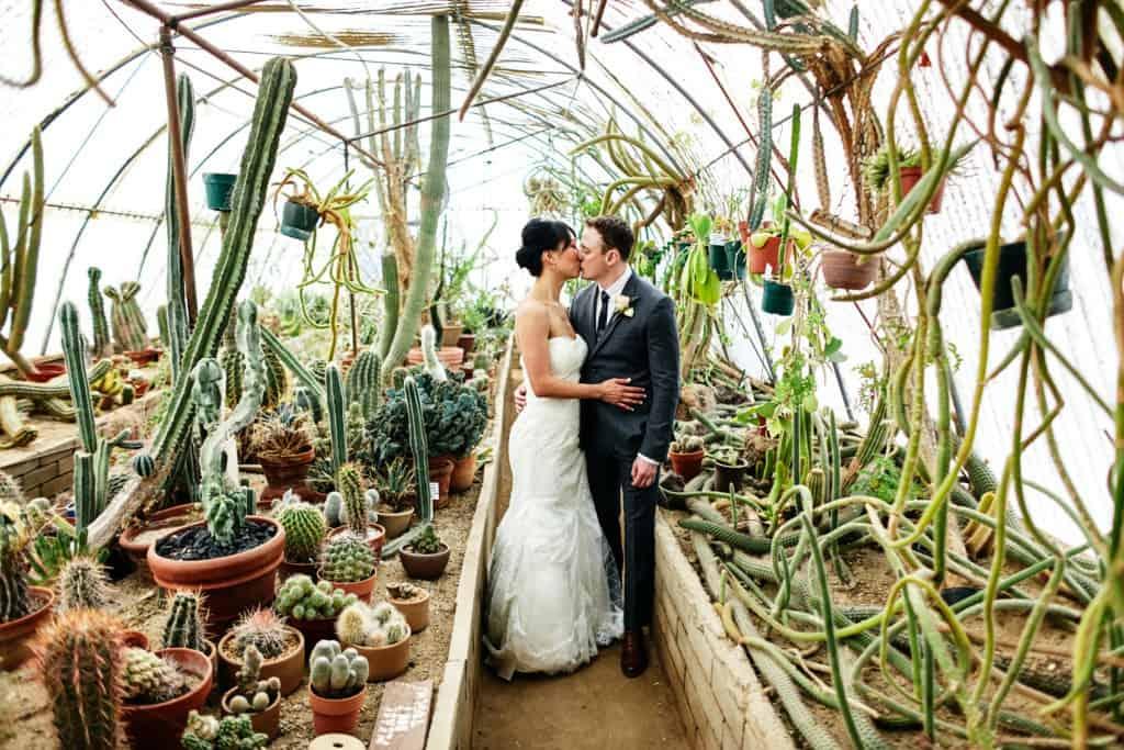 cactarium greenhouse wedding photos