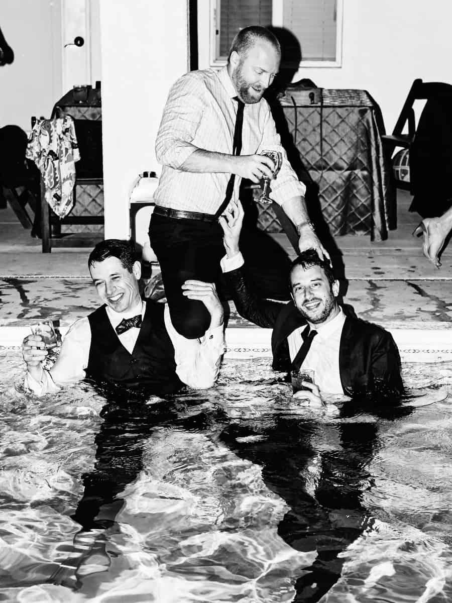 guys in pool