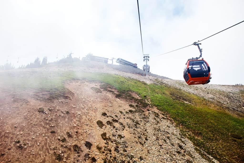 gondola at Crystal Mountain summit
