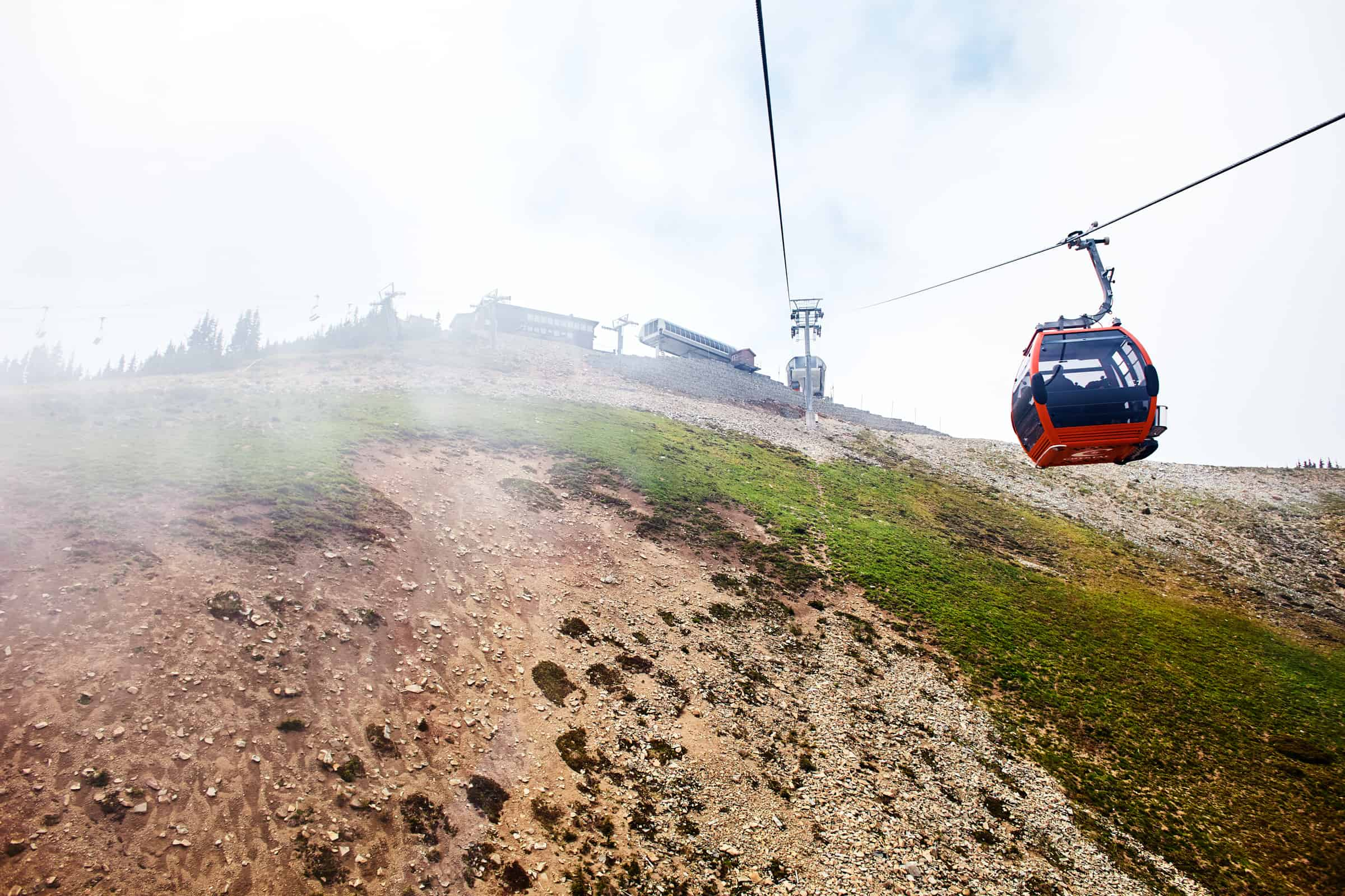 gondola at Crystal Mountain summit