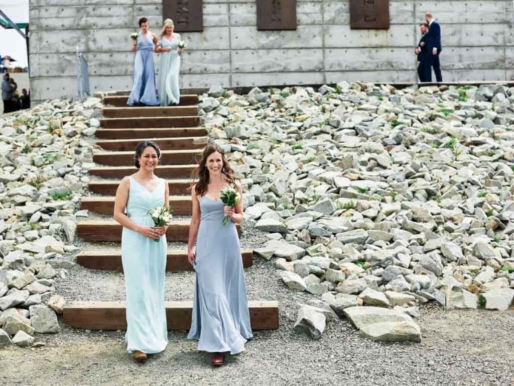 bridesmaids entering ceremony