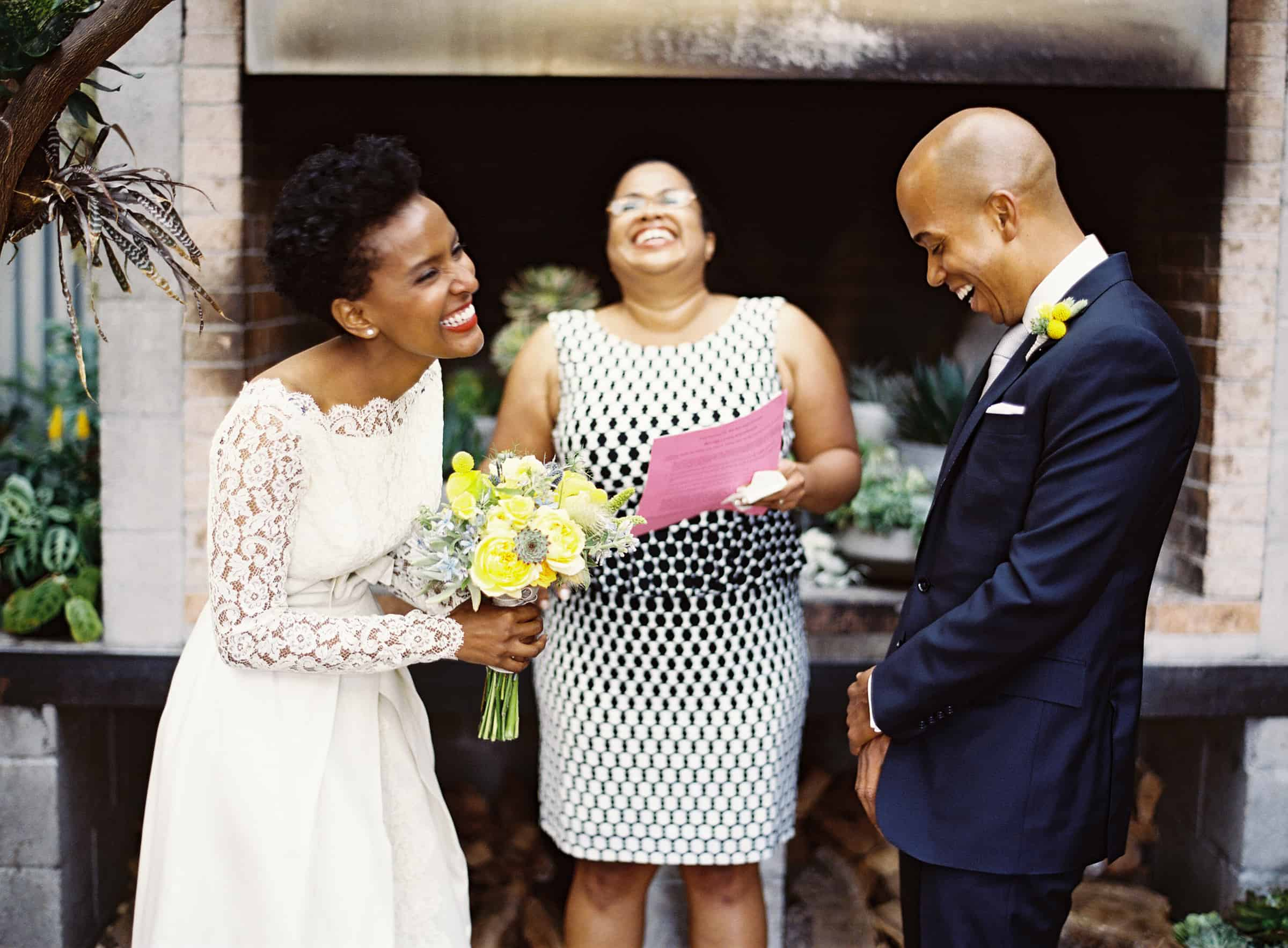 african american wedding ceremony at stable cafe