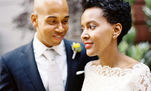 afrian american bride and jamaican groom