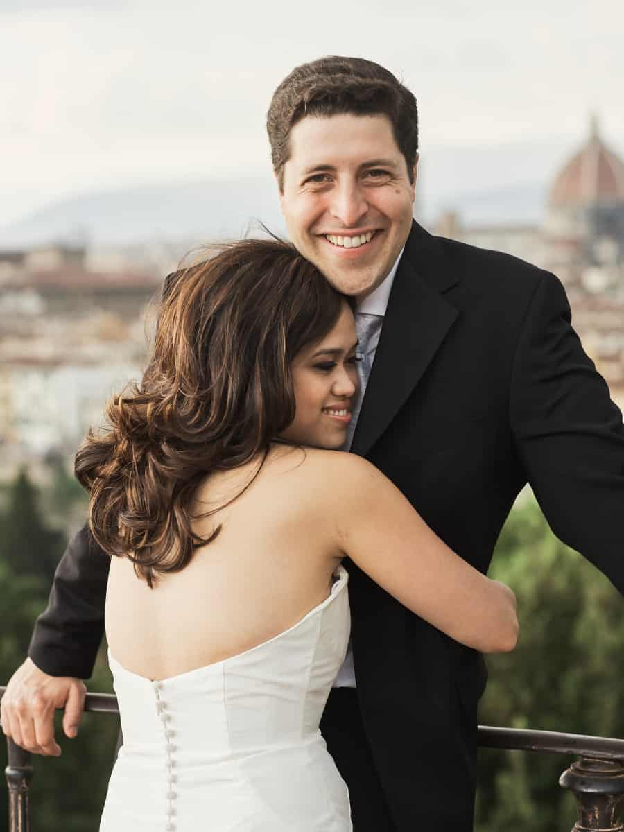 destination wedding portrait in Italy