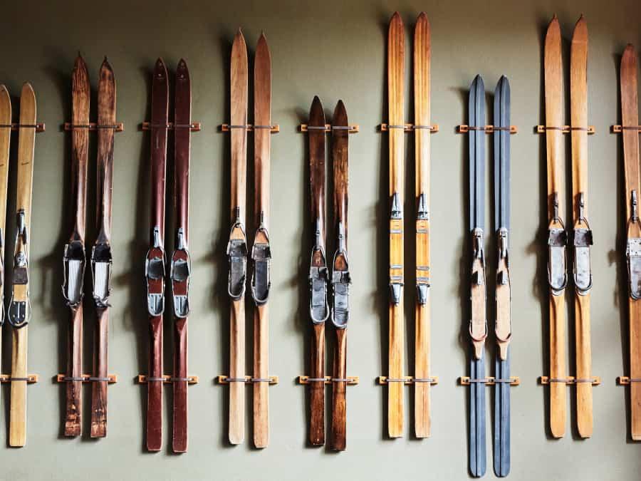 old vintage skis