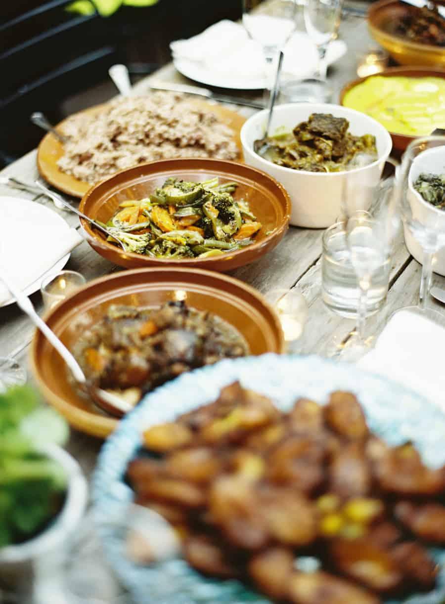 jamaican food at a wedding