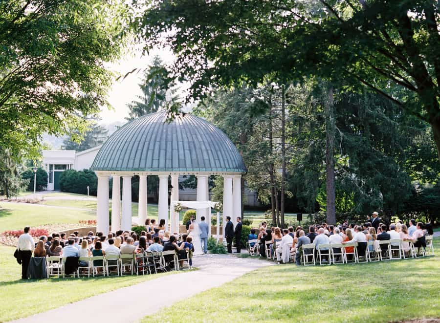Greenbrier gazebo wedding ceremony
