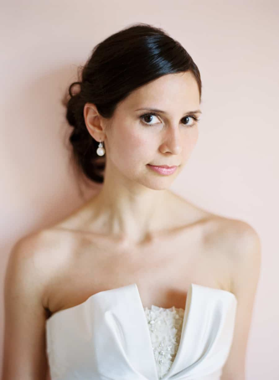 bride portrait in pink