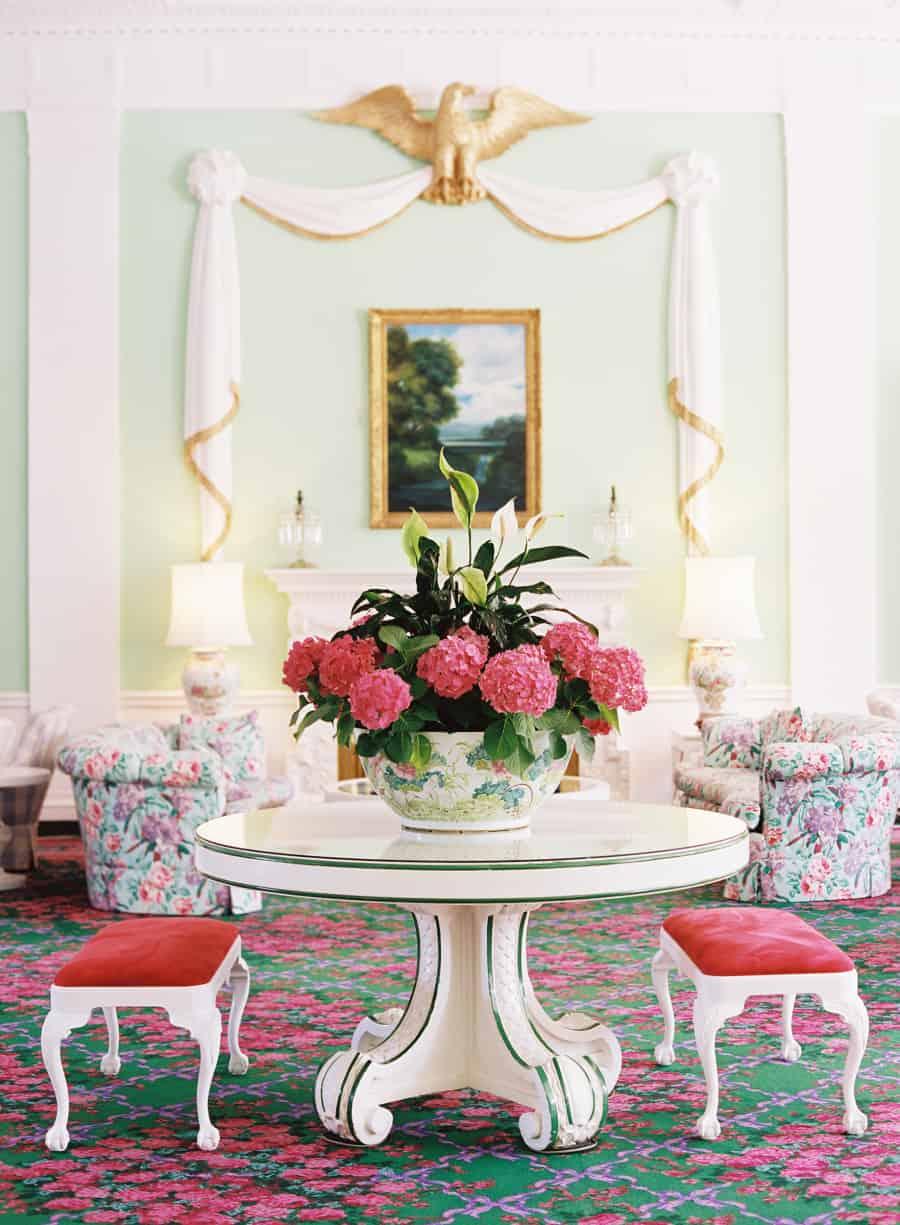 floral dorothy draper interior