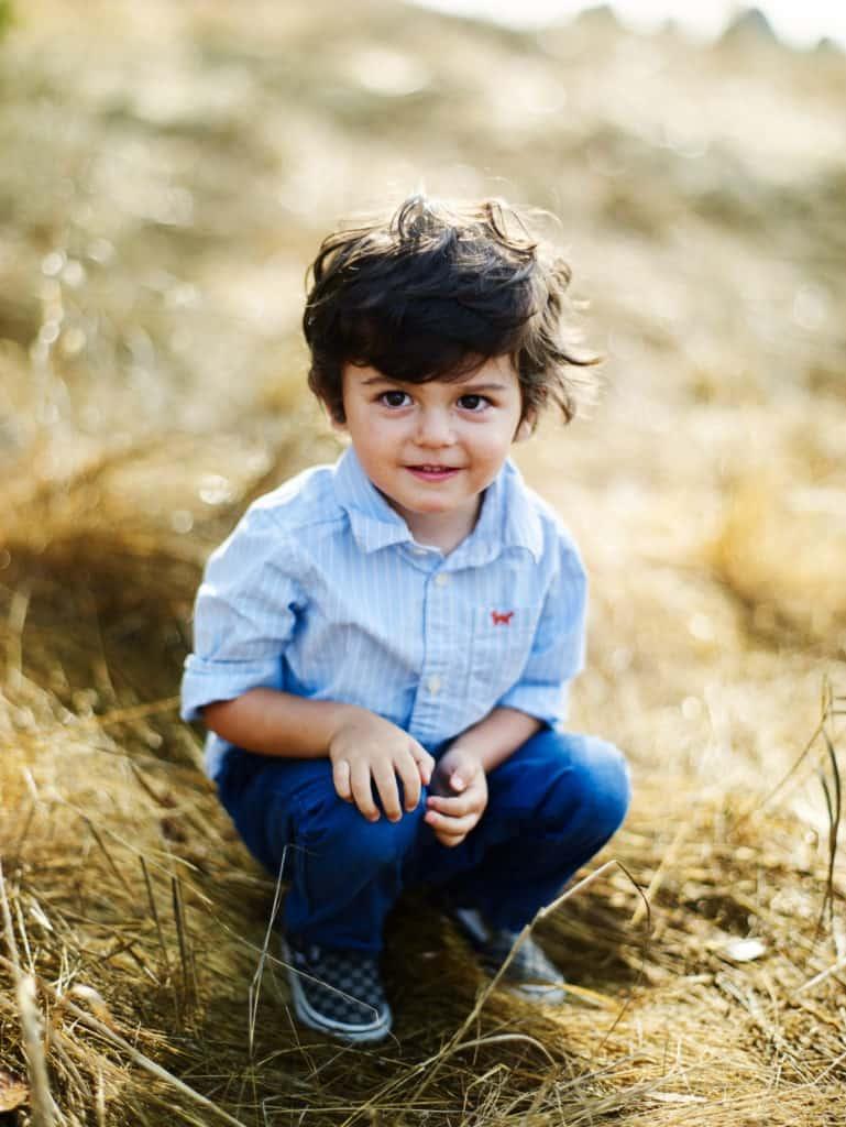 photo of boy at Tiburon family session