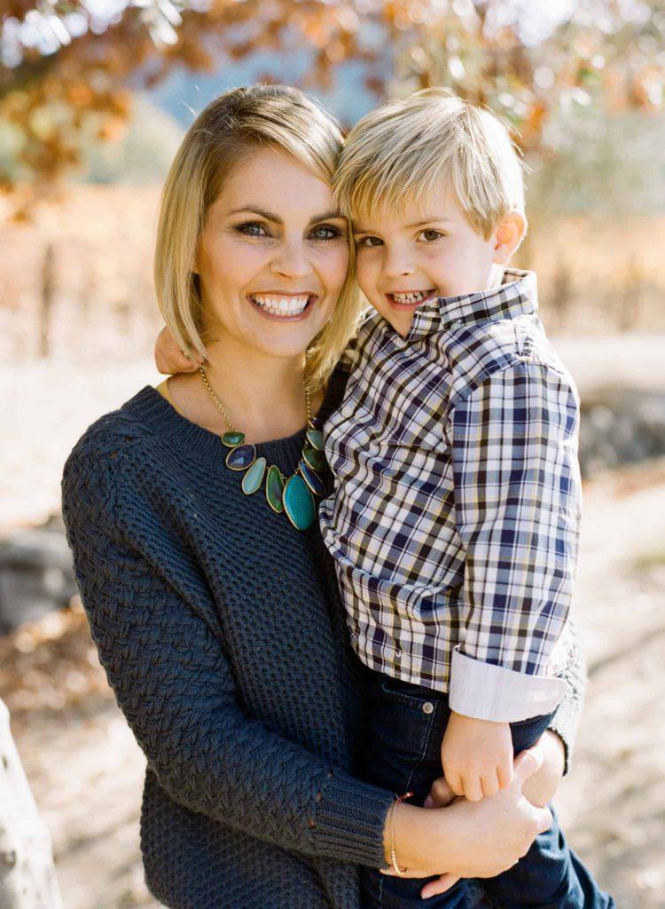 fall family photo session in napa
